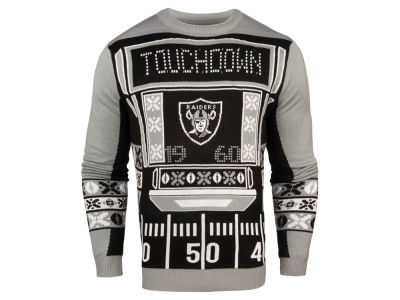 Oakland Raiders NFL Men's Light Up Ugly Crew Neck Sweater