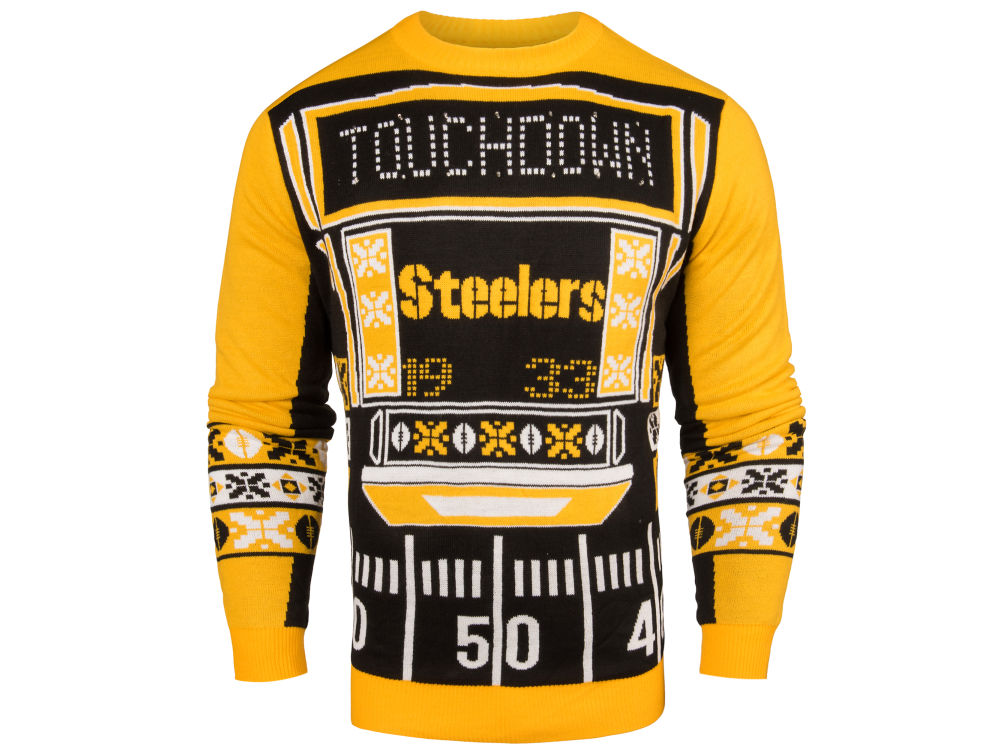7f923f1df Pittsburgh Steelers NFL Men s Light Up Ugly Crew Neck Sweater