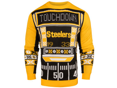 Pittsburgh Steelers NFL Men's Light Up Ugly Crew Neck Sweater
