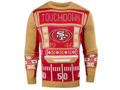 San Francisco 49ers NFL Men's Light Up Ugly Crew Neck Sweater