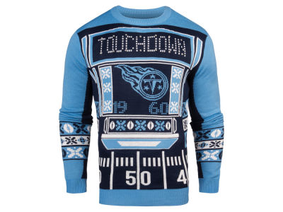 Tennessee Titans NFL Men's Light Up Ugly Crew Neck Sweater
