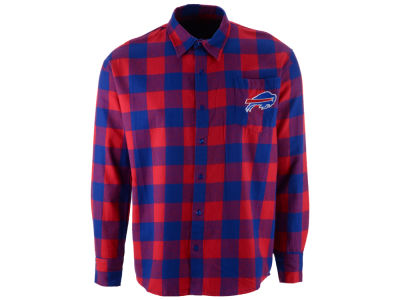 Buffalo Bills NFL Men's Large Check Flannel Button Down Shirt