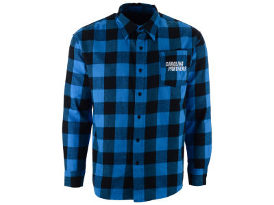 Carolina Panthers NFL Men's Large Check Flannel Button Down Shirt