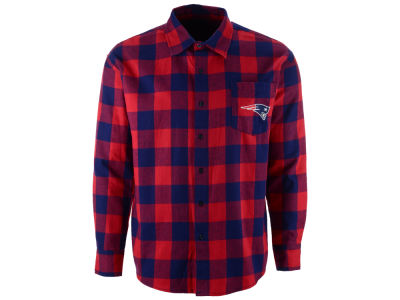 New England Patriots NFL Men's Large Check Flannel Button Down Shirt