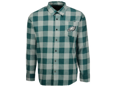 Philadelphia Eagles NFL Men's Large Check Flannel Button Down Shirt