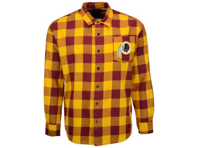Washington Redskins NFL Men's Large Check Flannel Button Down Shirt