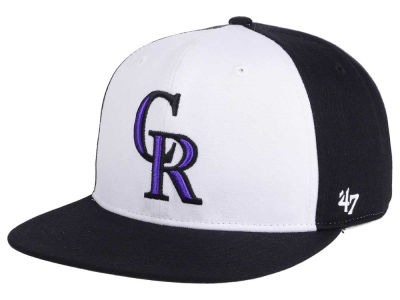 Colorado Rockies MLB '47 Sure Shot Accent Snapback Cap