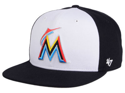 Miami Marlins MLB '47 Sure Shot Accent Snapback Cap