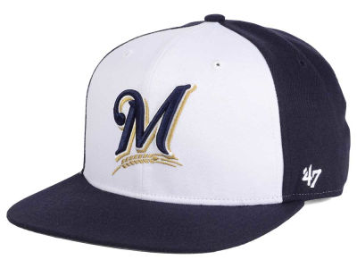 Milwaukee Brewers MLB '47 Sure Shot Accent Snapback Cap
