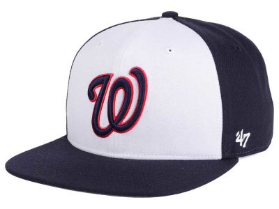 Washington Nationals MLB '47 Sure Shot Accent Snapback Cap