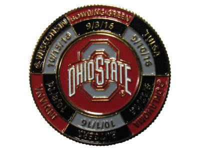 Ohio State Buckeyes Two Sided Football Schedule Coin