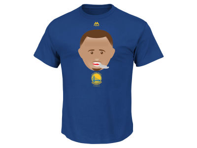 Golden State Warriors Stephen Curry Majestic NBA Men's Emoji T-Shirt