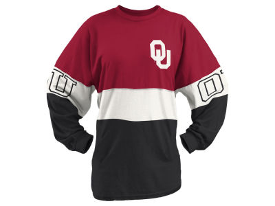 Oklahoma Sooners NCAA Women's Clarity Sweeper T-Shirt