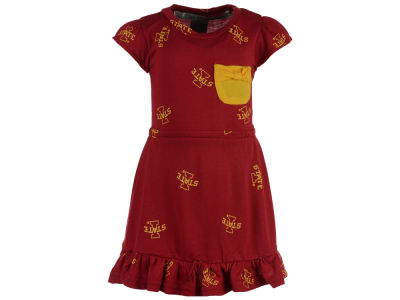 Iowa State Cyclones NCAA Newborn Girls Cap Sleeve Ruffle Dress Set