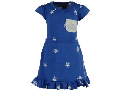 Kentucky Wildcats NCAA Newborn Girls Cap Sleeve Ruffle Dress Set