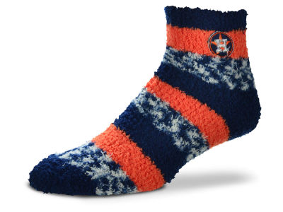 Houston Astros For Bare Feet Sleep Soft Pro Stripe Socks