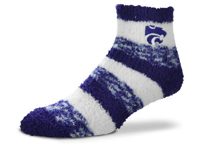 Kansas State Wildcats For Bare Feet Sleep Soft Pro Stripe Socks