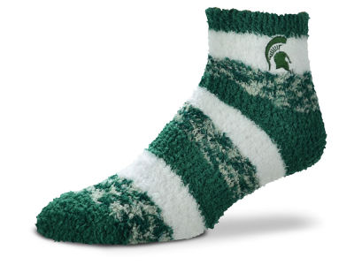 Michigan State Spartans For Bare Feet Sleep Soft Pro Stripe Socks
