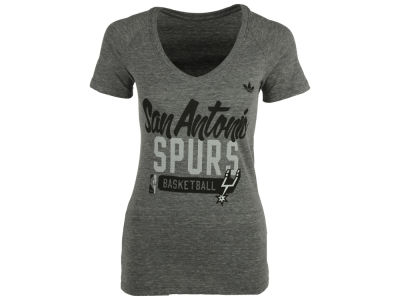San Antonio Spurs adidas NBA Womens Mesh Outline 2 T-Shirt
