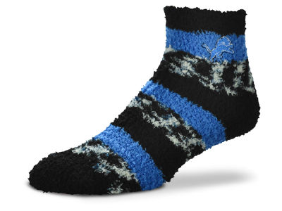 Detroit Lions For Bare Feet Sleep Soft Pro Stripe Socks