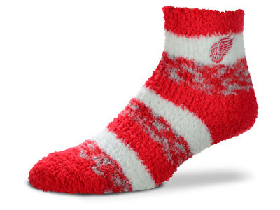 Detroit Red Wings For Bare Feet Sleep Soft Pro Stripe Socks