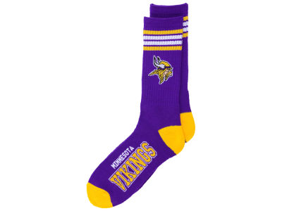 Minnesota Vikings 4 Stripe Deuce Crew 504 Sock