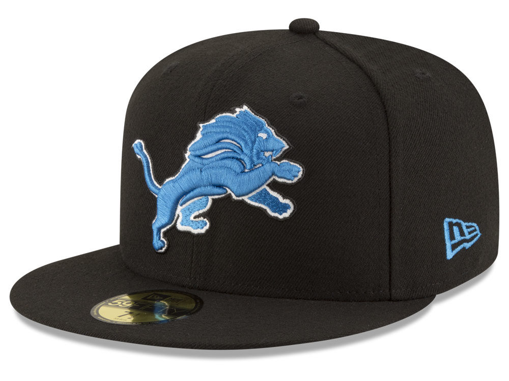 reputable site 00d49 d0618 Detroit Lions New Era NFL Team Basic 59FIFTY Cap