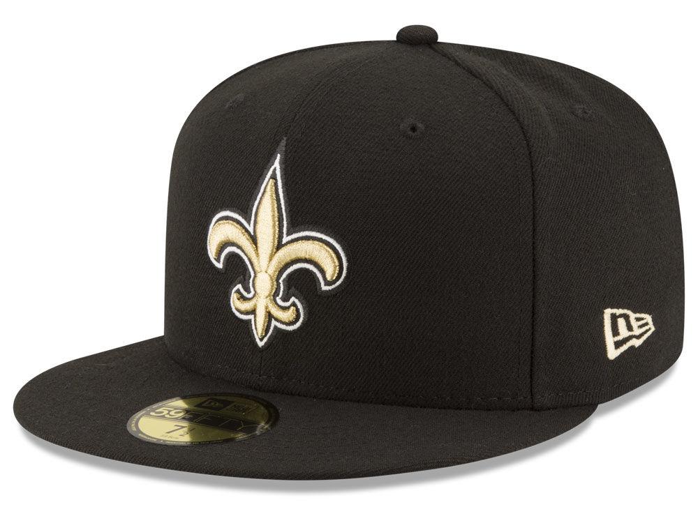 New Orleans Saints New Era NFL Team Basic 59FIFTY Cap  2146fb934ae
