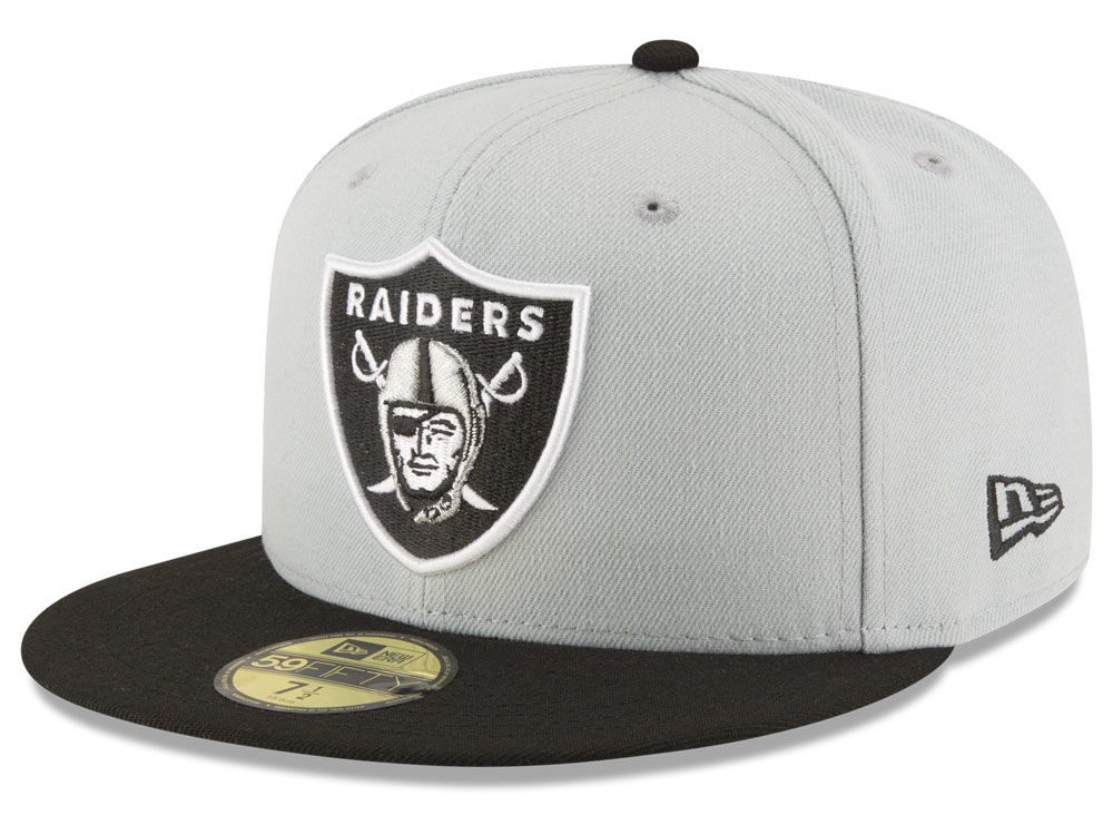 5abf11d84 Oakland Raiders New Era NFL Team Basic 59FIFTY Cap