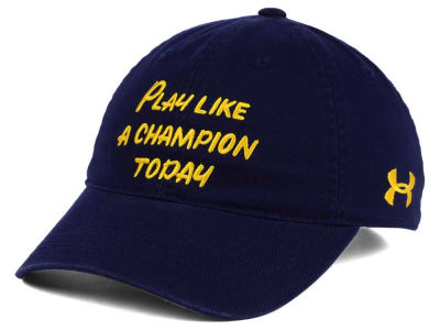Notre Dame Fighting Irish Under Armour NCAA Play Like a Champion Today Easy Adjustable Cap