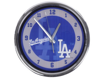 Los Angeles Dodgers Chrome Clock II