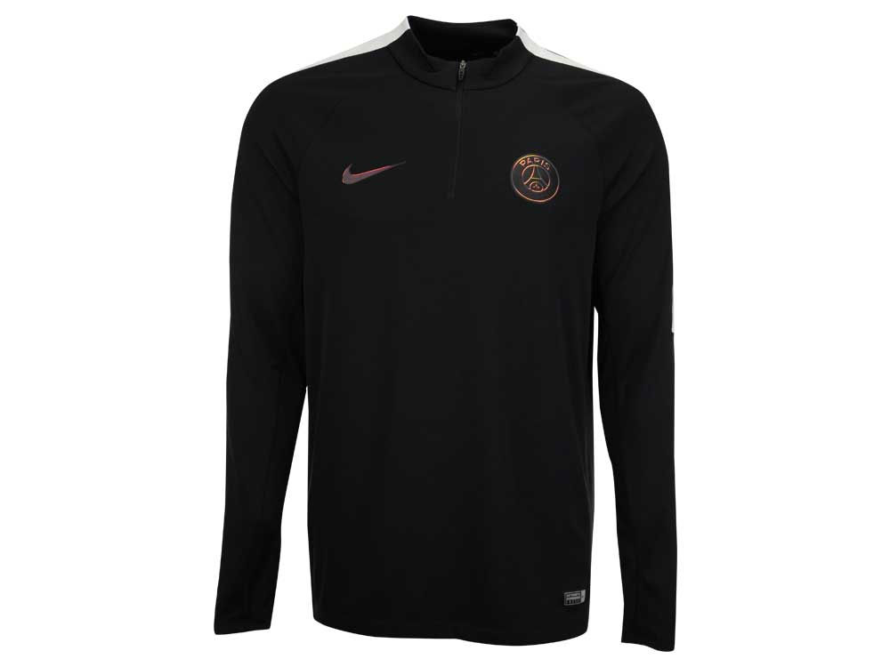 Paris Saint-Germain Nike Men s Club Team Framed in Black Quarter Zip  Pullover  d77232f61