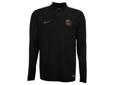 Paris Saint-Germain Nike Men's Club Team Framed in Black Quarter Zip Pullover