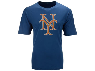 New York Mets MLB Men's Brass Tacks Coop Logo T-Shirt