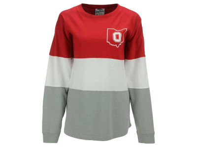 Ohio State Buckeyes NCAA Women's OSU Exclusive Tri-Color State Sweeper