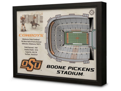 Oklahoma State Cowboys Stadium View Wall Art