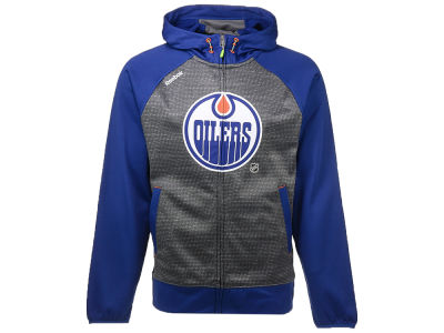 Edmonton Oilers Reebok NHL Men's Center Ice TNT Full Zip Hoodie
