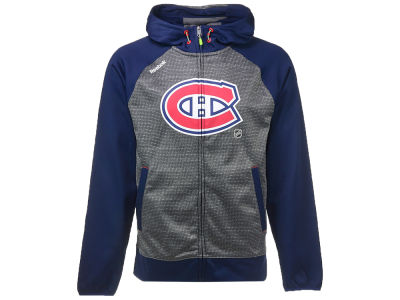 Montreal Canadiens Reebok NHL Men's Center Ice TNT Full Zip Hoodie