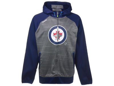 Winnipeg Jets Reebok NHL Men's Center Ice TNT Full Zip Hoodie