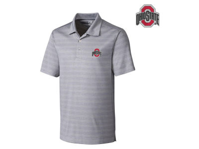 Ohio State Buckeyes NCAA Men's Interbay Melange Stripe Chromaflex Polo Shirt