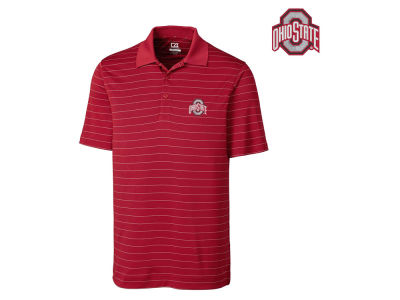 Ohio State Buckeyes NCAA Men's Drytec Franklin Stripe Polo Shirt