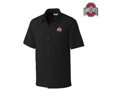 Ohio State Buckeyes NCAA Men's Solana Check Short Sleeve Button Down Shirt