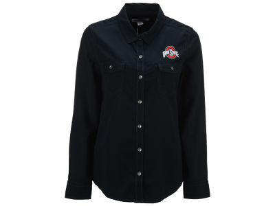 Ohio State Buckeyes NCAA Women's Bell Harbor Button Down Shirt