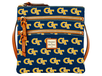 Georgia-Tech Dooney & Bourke Triple Zip Crossbody Bag