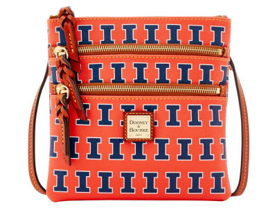 Illinois Fighting Illini Dooney & Bourke Triple Zip Crossbody Bag