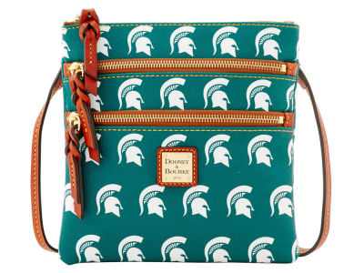 Michigan State Spartans Dooney & Bourke Triple Zip Crossbody Bag