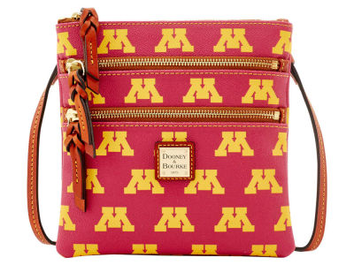 Minnesota Golden Gophers Dooney & Bourke Triple Zip Crossbody Bag