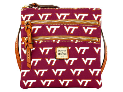 Virginia Tech Hokies Dooney & Bourke Triple Zip Crossbody Bag