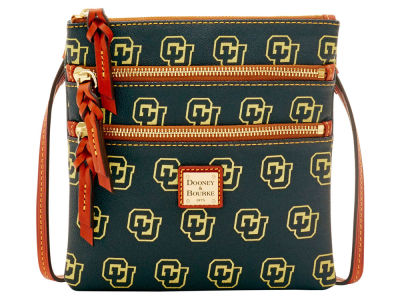 Colorado Buffaloes Dooney & Bourke Triple Zip Crossbody Bag