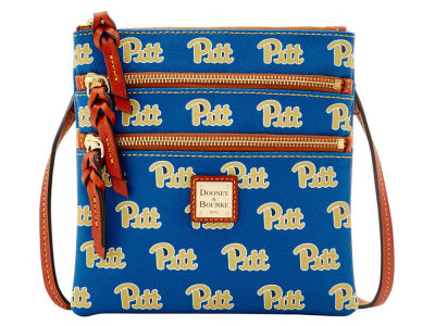 Pittsburgh Panthers Dooney & Bourke Triple Zip Crossbody Bag